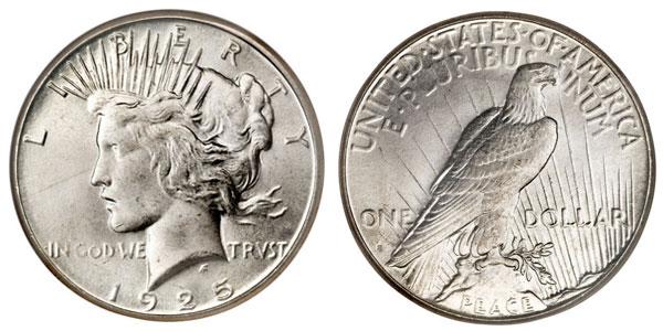 1925 S silver coin