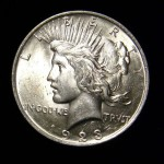 1923 Peace Silver Dollar Coin head