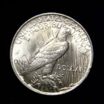1923 Peace Silver Dollar Coin tail