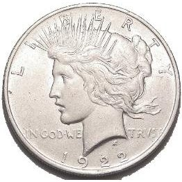 uncirculated peace silver dollar coin